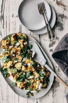 Curried Cauliflower & Chickpea Salad With Yogurt - Dishing Up the Dirt
