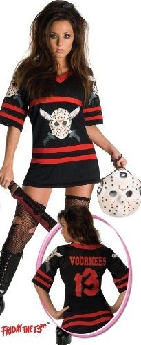 Ladies Miss Jason Voorhees Friday The Fancy Dress Halloween Costume Sexy Adult Costumes, Halloween Costumes For Teens, Halloween Fancy Dress, Costumes For Women, Costume Halloween, Jason Voorhees Costume, Plus Size Halloween, Adult Halloween, Halloween Stuff