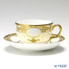 Wedgwood cameo trophy Grey tea cup and saucer