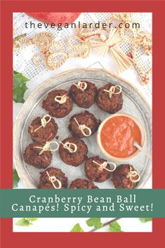 A delicious vegan and gluten free meatless bean ball recipe that is perfect as a canape for party season! Make ahead and heat as needed! Yummy and easy recipe for Thanksgiving and Christmas! #vegan #recipe #canape #snack #glutenfree Delicious Vegan Recipes, Gluten Free Recipes, Tasty, Vegan Foods, Vegan Dishes, Cranberry Beans, Balls Recipe, Some Recipe, Base Foods