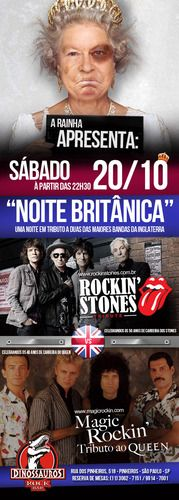 O som Inglês invadindo o Dinossauros Rock Bar em Sampa/SP - 20/10/2012 - Rockinstones x Magic Rockin' invadindo o Dinossauros Rock Bar com uma Noite Britânica de Rock n' Roll! - Fotolog