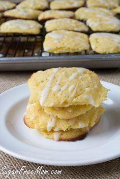 Sugar-Free Lemony Butter Cookies #glutenfree #lowcarb too! sugarfreemom.com