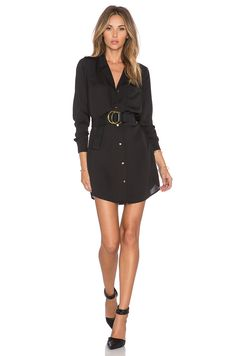 L'Academie The Tunic Dress in Black | REVOLVE