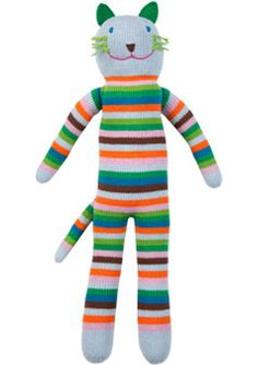 Sandwich the Cat by Blabla -- These are hand-knit, soft and snuggly, plus there are other colors and designs available. We were lucky to have gotten ours when it was on sale ... - $52