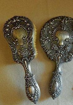 Antique Sterling Silver Fancy Gorham Soup Spoons Buttercup Pattern