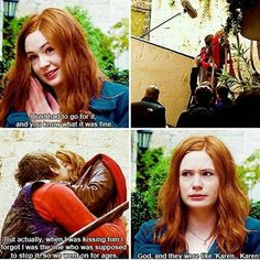 Rory Williams and Amy Pond forever Doctor Who Funny, Doctor Who Quotes, Rose Tyler, Rory Williams, Karen Gillan, Amy Pond, Don't Blink, Eleventh Doctor, Torchwood