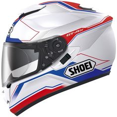 Shoei GT Air Helmet - want it! Custom Motorcycle Helmets, Motorcycle Outfit, Bike Helmets, Ducati, Yamaha, Hd 883 Iron, Motocross, Shoei Helmets, Used Motorcycles For Sale