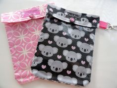 ♥ Medium 5x7 size holds everything you see in 2nd photo plus more!    ♥ SAVE $1.90...YOU PICK ANY 2 Medium 5x7 OUCH POUCHES® FOR $16.00  (Clip add-on at menu $2 each)    ***Go thru my shop, see the selections in MEDUIM sized pouches, then let me know which 2 you'd like when checking out!! http://www.etsy.com/shop/PillowSewCute?section_id=6091711    ♥ Main Photo Shows: Pink Starlight & Koals    Moms, Students, Teachers...NO MORE SCROUNGING FOR A BANDAGE~    Now have your first aid supplies…