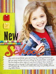 Embellish a Scrapbook Page with Fun School Supplies