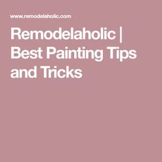 Your next painting project will be a breeze with these tried and true painting tips -- the best tips, tricks, and techniques to make your painted projects pop! Painting Wallpaper, Painting Tips, Make It Yourself, Diy, Wallpaper, Bricolage, Handyman Projects, Do It Yourself, Fai Da Te