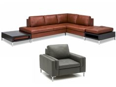 //Wynona Contemporary Sectional Sofa// Made in Canada.  Sectional can be ordered in various configurations to suit your specific space. Available as a sofa, love seat or single chair option.