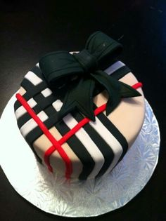 Beautiful Burberry Cake
