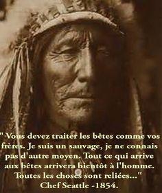 .PARTAGE OF TULPA LA VOIE DE LA SAGESSE ET DE LA SPIRITUALITÉ.........ON FACEBOOK.......CITATION OF CHIEF SEATTLE......1854......