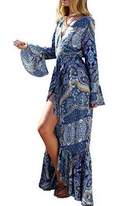 2ef1d5c51aaa Femme Mini Robe Chemise Casual à Manches Longues Robe été Chemisier Robe Top  Tunique Blouse Long XXL café