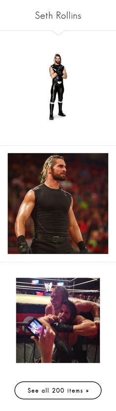 """Seth Rollins"" by angellynn02 ❤ liked on Polyvore featuring wwe, seth rollins, superstars, people, misc, seth, the shield, home, home decor and wrestling"