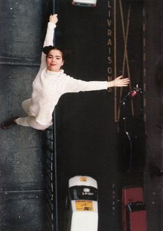 Björk on a rooftop. Follow RUSHWORLD! We're on the hunt for everything you'll love! #Bjork #UnusualBjorkPhotos