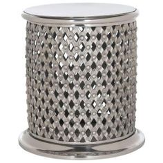 Safavieh, Metal Lace End Table/Stool in Silver, FOX5518A at The Home Depot - Tablet