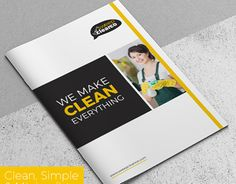 check out new work on my behance portfolio cleaning service company brochure httpbenetgallery51886163cleaning service company brochure