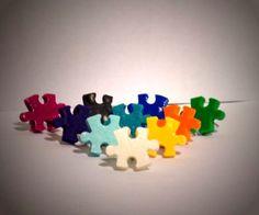 Ohrstecker Puzzle Hobbys Handwerk Damen Ohrringe Ohrschmuck Fimo Modeschmuck