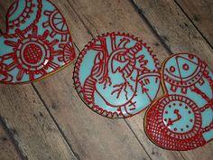 Steampunk valentine cookies