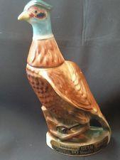 Vintage Collectible Ceramic Jim Beam Bourbon Whiskey Pheasant Decanter  1967