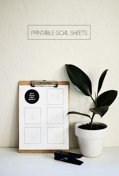 The Plumed Nest: Print: Goal Sheets