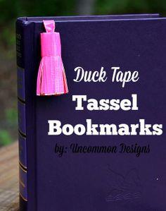 Make Tassel Bookmarks with Duck Tape® #DuckTape #ad www.uncommondesignsonline.com