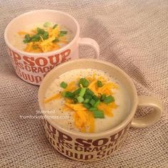 21 Day Fix: Cheddar Baked Potato Soup   From Forks to Fitness