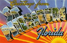 Greetings from St. Petersburg, Florida - Large Letter Postcard by Shook Photos, via Flickr