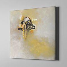 Bari Gallery | حروفيات (2) | لوحة كانفس | لوحة فنية جدارية للمنزل Canvas Wall Collage, Angel Wings Painting, Abstract Painting Techniques, Henna Art Designs, Arabic Calligraphy Design, Islamic Paintings, Small Canvas Art, Islamic Wall Art, Watercolor Canvas