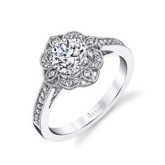 Sylvie Floral Engagement Ring | Andrews Jewelers, Buffalo NY
