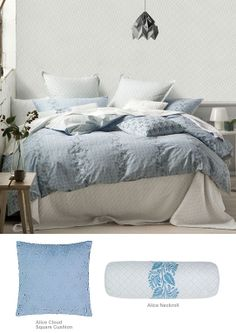 Marie Claire - Alice Quilt Cover Set - Got this! Online Bedding Stores, European Pillows, Quilt Cover Sets, Blue Quilts, Queen Quilt, Linen Bedding, Bed Linen, Soft Furnishings, Luxury Bedding