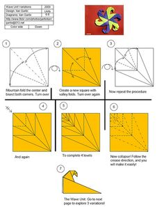Wave Unit Diagram 1 by garibi ilan, via Flickr - and Check out his other cool origami