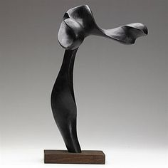 Artwork by Mario Dal Fabbro, Carved and ebonized wood sculpture, Made of ebonized wood Art Sculpture, Wire Sculptures, Sculpture Ideas, Bronze Sculpture, Plastic Art, Art Carved, Contemporary Sculpture, Abstract Shapes, Art Object