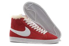 the best attitude f3045 7490b New style White Nike Shoes Blazer 2014 Red Fur for Winter online sale in  the official White Nike Shoes Blazer 2014 Red Fur for Winter outlet