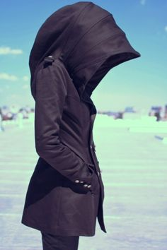 I want a hooded jacket that has a hood to cover my whole head like this...