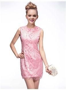Fabulous Short/Mini Beading  Scoop Neckline  Cocktail  Dress