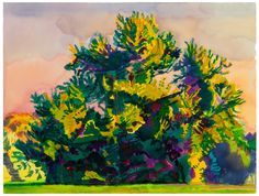 Graham Nickson, Monumental Tree—Serena's Tree , 2000 Watercolor on ...