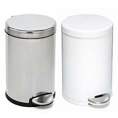 The Container Store > simplehuman® 1.2 gal. Deluxe Round Step-On Can