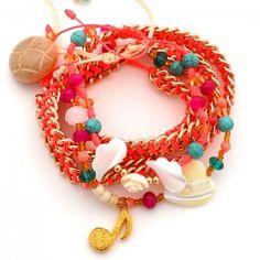 Pulsera Doble Cadena Fucsia | Dulce Encanto accesorios para mujer. Compra tus accesorios desde la comodidad de tu casa u oficina en www.dulceencanto.com #accesorios #accessories #aretes #earrings #collares #necklaces #pulseras #bracelets #bolsos #bags #bisuteria #jewelry #medellin #colombia #moda #fashion