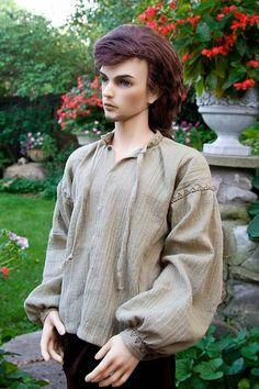 Free BJD shirt pattern from Antique Lilac Barbie Et Ken, Barbie Mode, Ken Doll, Barbie Patterns, Doll Clothes Patterns, Clothing Patterns, Sewing Patterns, Barbie Dress, Barbie Clothes