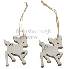 Wooden Deer 8cm With Rope 10pc @ gainsboroughgiftware.com Woodland, Deer, Christmas Ornaments, Holiday Decor, Home Decor, Decoration Home, Room Decor, Christmas Jewelry, Christmas Decorations