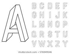 Calligraphy Handwritten Fonts Handwritten Brush Style Stock-… – Graffiti World Alphabet Design, Hand Lettering Alphabet, Calligraphy Letters, Calligraphy Quotes, Brush Pen Lettering, Lettering Design, Lettering Practice Sheets, Illusion Drawings, Optical Illusion Art