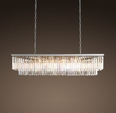 Odeon crystal fringe 12 light rectangular chandelier overstock long crystal dining room chandelier odeon clear glass fringe rectangular chandelier some inspiration we may need to go a little over budget to create an aloadofball Image collections