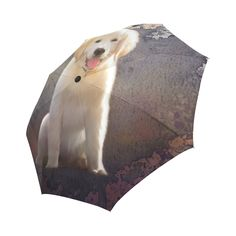 new at @artsadd: A #cute painting golden #retriever #puppy Auto-Foldable #Umbrella