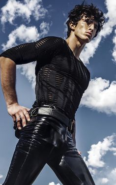 Gentle_man w a l k f o r m e - raphael diogo_ph-christopher ardell. Fashion Moda, Mens Fashion, Latex Men, Latex Pants, Poses For Men, Sexy Teens, Sharp Dressed Man, Young Fashion, Dress Socks