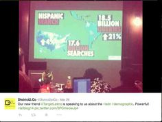 A look at the number of online Hispanic search demographics at SEO presentation by Havi Goffan Seo Optimization, Search Engine Optimization, Seo Marketing, Social Media Tips, New Friends, Infographic, How To Find Out, Presentation, Coding