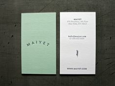 Maiyet Business Cards by PSA Creative