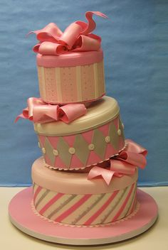 Pink gifts Cake... lovely cakes.net...via...flickr