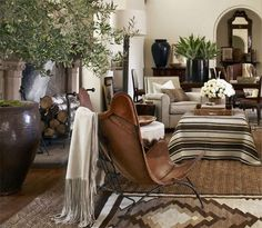 Ralph Lauren Home Collections Archive ... PART ONE interesting palette with cognac leather